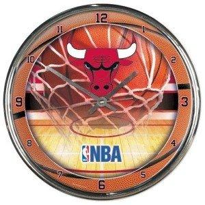 - Chicago Bulls Round Chrome Wall Clock