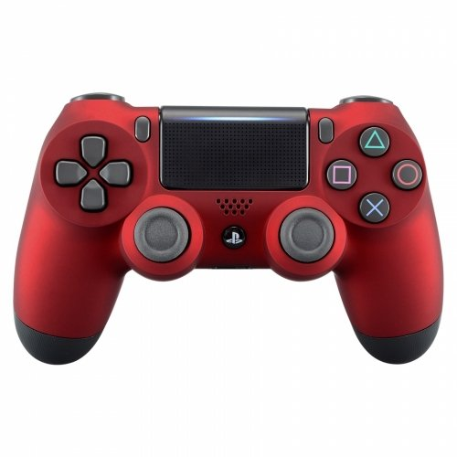 PS4 Dualshock Playstation 4 Wireless Controller Custom Soft Touch Red Deal (Large Image)