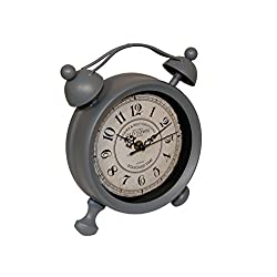 Cheung's FP-3304A-LG Table Clock| Light Grey