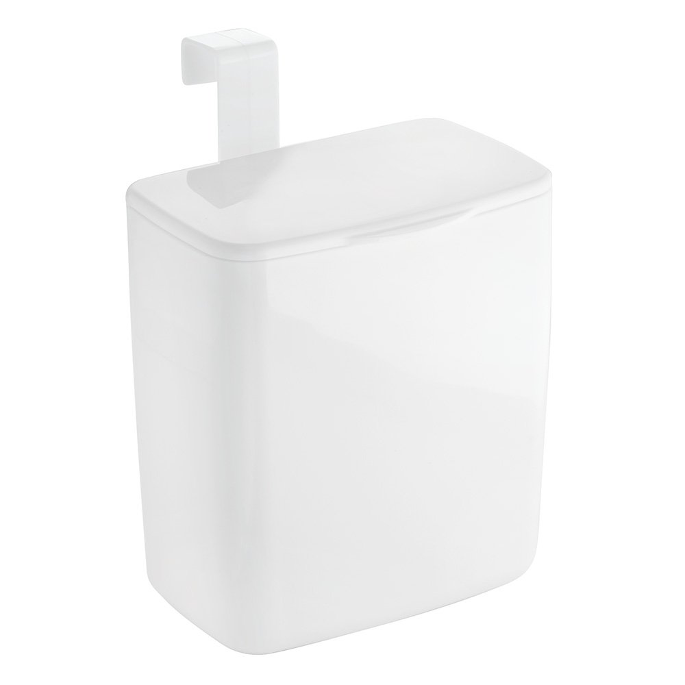 InterDesign Una Tank/Over Cabinet Bin, Large, White 93531