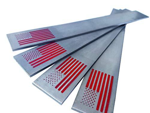 Hoja acero 1095 para fabricacion de cuchillos - pack x4