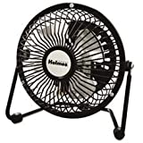 -- Mini High Velocity Personal Fan, One Speed, Black