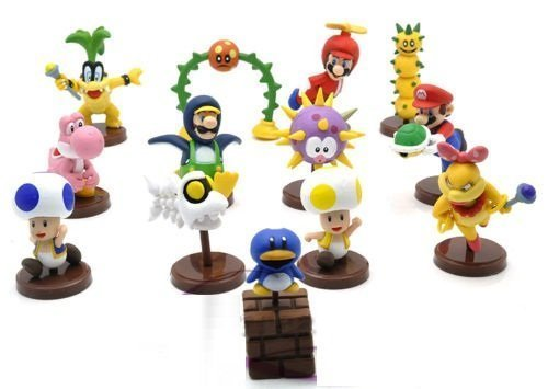Super Mario Bros Wii 2 Collection Toy Figures 13pcs/set Pvc Action Figures Toys Doll Kids Gift