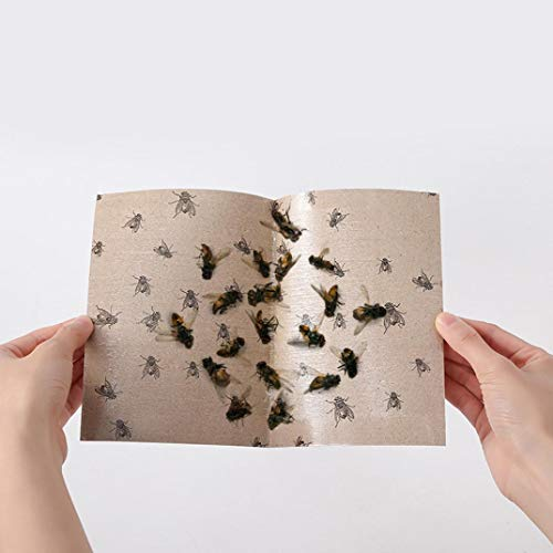 certainPL Fly Paper, Non Toxic Non Polluting Eco Friendly Sticky Glue Paper Fly Flies Trap Catcher Bugs Insects Catcher Board (10-Pack)