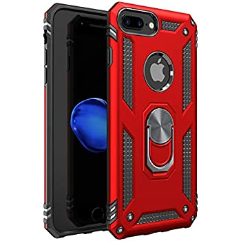 iPhone 7 Plus Case | iPhone 8 Plus Case [ Military Grade ] 15ft. Drop Tested Protective Case | Kickstand | Compatible with Apple iPhone 8Plus / iPhone 7 Plus- Red