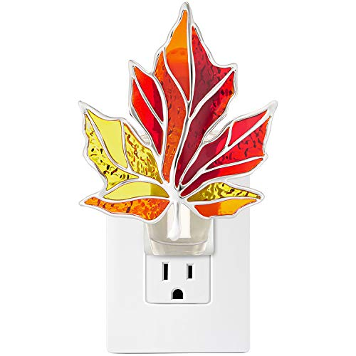 Bath and Body Works COLORFUL STAINED GLASS LEAF NIGHTLIGHT Wallflowers Fragrance Plug
