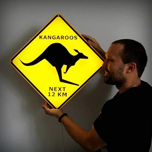 Kangaroo crossing Illuminated Sign/Night Light/Wall Decor Lamp for home ()