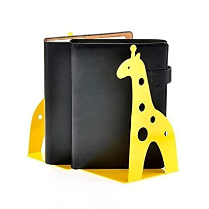 Tobway Cute Giraffe Nonskid Bookends Bookend Racks Art Gift Decoration,Black