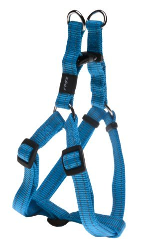 Rogz Utility Medium 5/8 Snake Adjustable Reflective Dog Step-in-Harness, Turquoise by Rogz