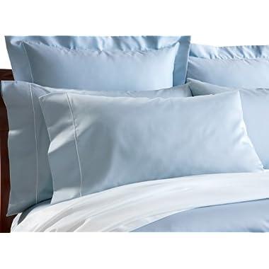 CUDDLEDOWN 400 Thread Count Pillowcase, Standard/Queen, Azure