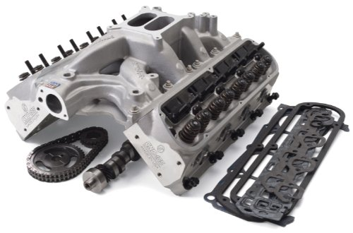 Edelbrock 2090 Power Package Top End Kit 460 HP Incl. Intake/RPM Xtreme Heads/Roller Camshaft And Lifters/Timing Chain/Gasket Set/Bolt Kits Power Package Top End Kit