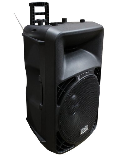 Absolute USA PRO USPRO15M Portable 15-Inch Amplified Speaker with MP3/SD/USB/FM Radio Player Built-In LCD Display by Absolute