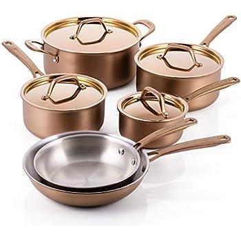 Amazon Com Fleischer Amp Wolf Cookware Set 10pcs Triply
