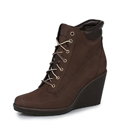 Timberland Meridian 6inch Dark Womens Brown Wedge Boots -UK 8
