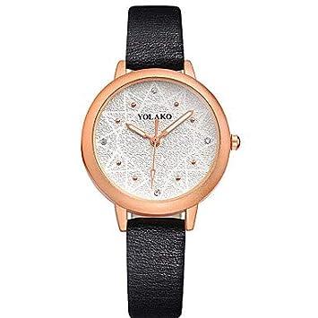 Fashion Watches Relojes Hermosos, Mujer Reloj de Moda Cuarzo Reloj Casual Piel Banda Analógico Moda