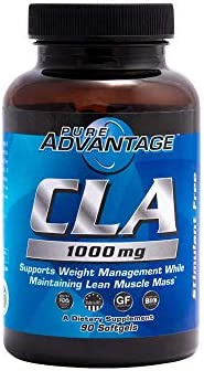 Pure Advantage CLA Conjugated Linoleic Acid Supplement Softgels, 90 Count