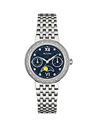 Bulova Women's Quartz Stainless Steel Dress Watch, Color: Silver-Toned (Model: 96R210)