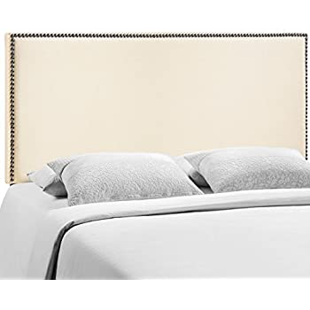 Amazon Com Modway Region Upholstered Linen Headboard