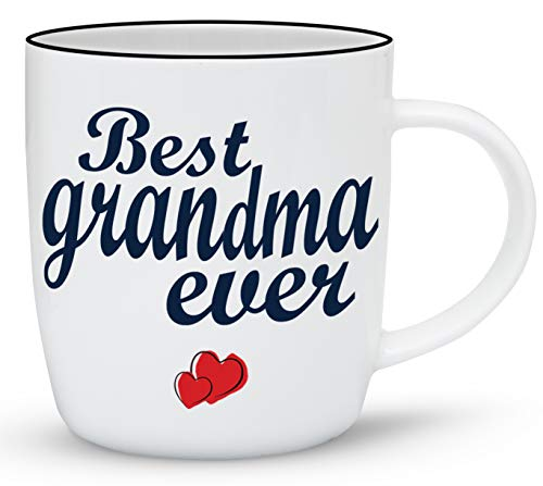 Gifffted Worlds Best Grandma Coffee and Tea Mug Gifts From Grandson Granddaughter, Funny Mugs Presents For Greatest Grandparents Day Gifts, Mothers Day For Great Grandma, Gift Cups Ceramic - Grandkids Mug