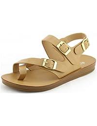 Women Toe Ring Flat Sandal - Espadrille Sandal - Slingback Sandal - GI03 by