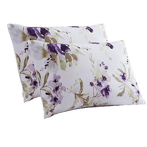 Mellanni Luxury Pillowcase Set - Brushed Microfiber 1800 Bedding - Wrinkle, Fade, Stain Resistant - Hypoallergenic (Set of 2 Standard Size, Madison Purple)