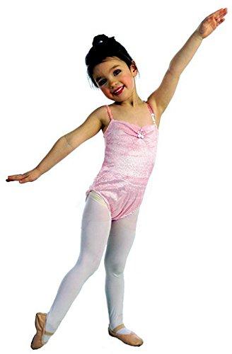 Leotard Costumes Halloween (Girls Princess Paradise Dance & Theater Leotard Costume in Glittering Pink or Purple (3/4, Pink))