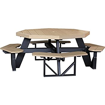 LuxCraft Recycled Octagon Picnic Table