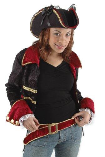 elope Lady Buccaneer Hat, Black, One Size