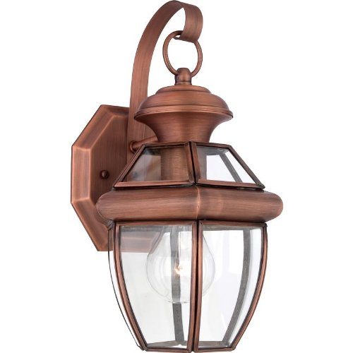 Quoizel NY8315AC Newbury Outdoor Wall Lantern Wall Mount Lighting, 1-Light, 150 Watt, Aged Copper (12