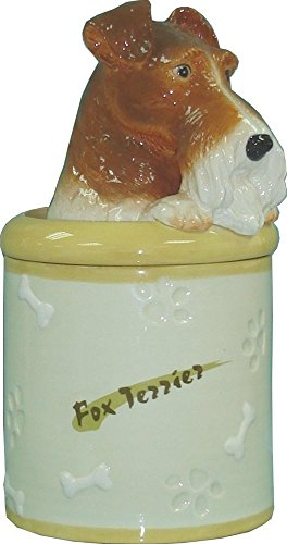StealStreet SS-D-CJ032, Fox Terrier Collectible Dog Puppy Cookie Jar Container Statue Figurine