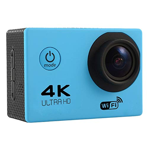 Sports CAMERA CJZC F60 2.0 inch Screen 4K 170 Degrees Wide Angle WiFi Sport Action Camera Camcorder with Waterproof Housing Case, Support 64GB Micro SD Card(Black) (Color : Blue)