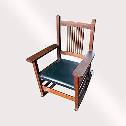 Swell Amazon Com Antique Nice Ljg Stickley Spindle Arm Rocking Machost Co Dining Chair Design Ideas Machostcouk