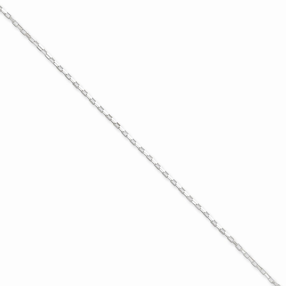 Sterling Silver 1.3mm Elongated Box Chain