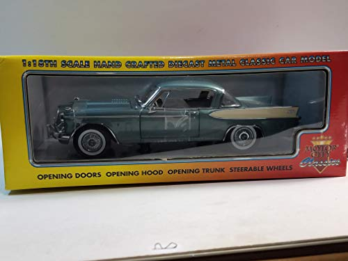 (Motor city classics 1957 Teal Studebaker Golden Hawk 1/18 Scale Diecast)