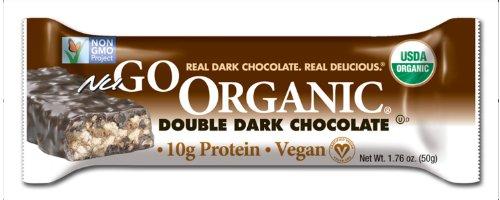 NuGo organique Nutrition Bar, foncé Double Chocolat, bars 1,76 onces (Pack de 12)