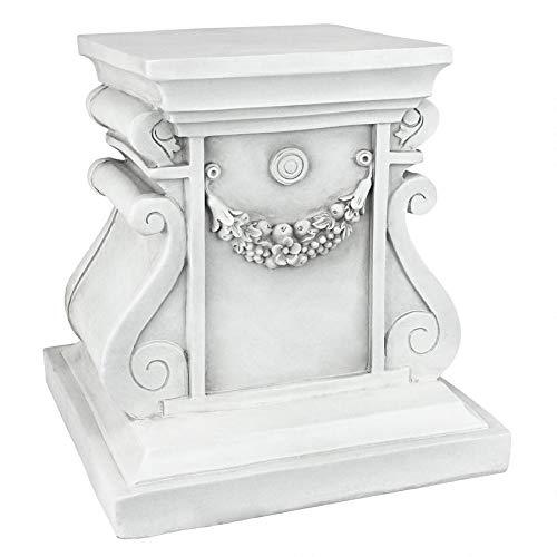 Design Toscano Classic Statuary Garden Plinth Base Riser, Medium 12 Inch, Polyresin, Antique Stone