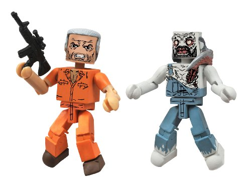 DIAMOND SELECT TOYS Walking Dead Minimates Series 3 Hershel and Farmer Zombie Action Figure]()