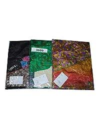 Wevez Pack of 3 Pcs Printed Reversible Art Silk Sari Wrap Around Magic Skirts