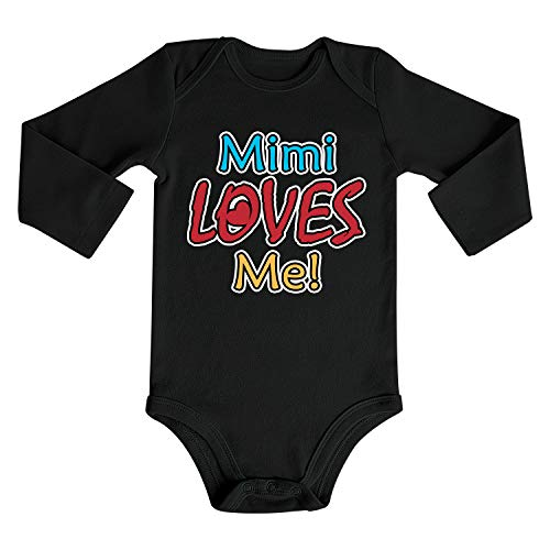 Cute Unisex Baby Boys Bodysuits Baby Girls Romper Long Sleeve Onesies Jumpsuit Outfits Mimi Loves Me]()