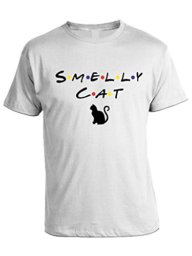 Tv In Bianco Cotone Cat Tshirt Smelly Bubbleshirt Friends Serie gBqn6p