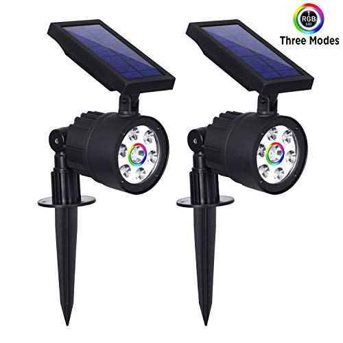 Westinghouse Solar Spotlights, Solar Spot Light Outdoor Color Change White Garden Lights 2-in-1 Waterproof 7 LED Solar Powered Spotlight Wall Light Landscape Light for Patio Yard (200 Lumen, 2 Pack)