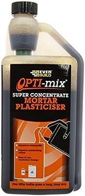 Everbuild OPTIMIX1 Opti-Mix Mortar Plasticizer 1L by Everbuild