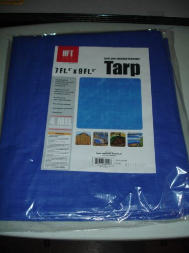 Light Duty Weather Resistant Tarp 7' x 9' by HFT