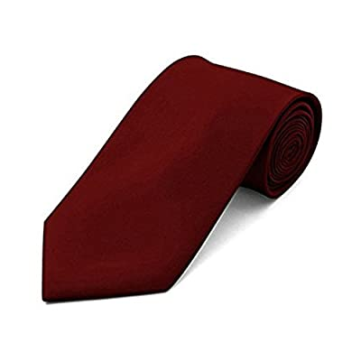 Classic Mens Tie, FuzzyGreen Formal Solid Color Necktie Neckwear 3.5inch Width