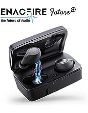 Auriculares Bluetooth, ENACFIRE Future Plus Auriculares inalámbricos Mini Twins Estéreo In-Ear Sport Bluetooth 5.0 con Caja de Carga de 2600mAh Portátil Y Micrófono Integrado 104h reproducción,IPX5