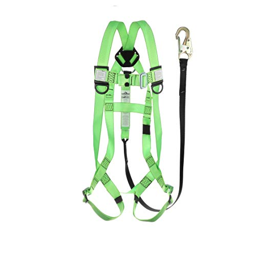 Peakworks Fall Protection V8252366 OSHA/ANSI Compliant Safety Harness and 6 ft. Lanyard Kit
