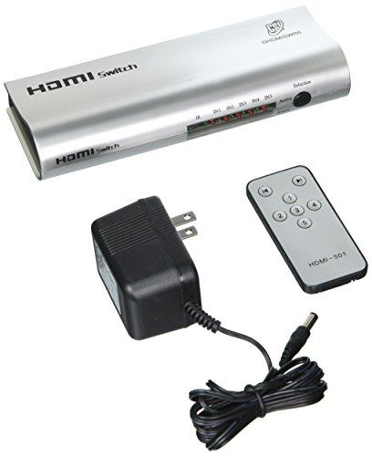GSI GHDMISWR5 - High Definition HDMI 5 Source Input and 1 Source Output Wireless Operated Switcher