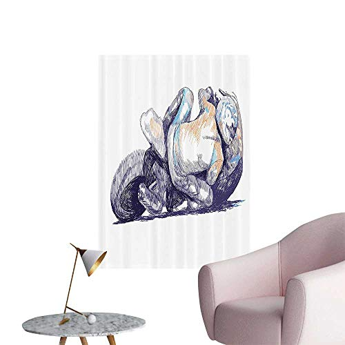 (Wall Stickers for Living Room Sketchy of Motorbike Racer nding Down to The Route Performer Winner Vinyl Wall Stickers Print,12