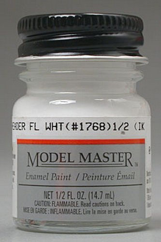 Testors Model Enamel Master - Testors Model Master Automotive Enamel Header Flat White