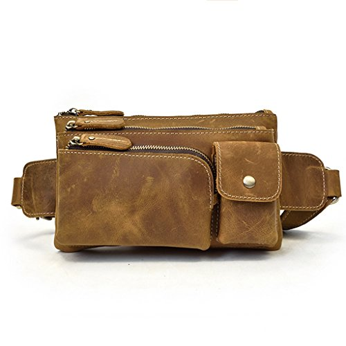24x14 1 Piel 1 Hombro Bolsa de Hombre Bolso Cuero y Pequeña Resistentes Pecho Mochila Bolsos de Autentico Bandolera 5CM Sucastle Bolsos 5x3 qtT1wRt